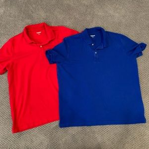 Lands' End Tailored Fit Polos - Lot of 2 - Size L
